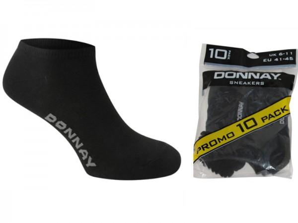 Donnay Sneakersocken 10|20|30|40 Paar Schwarz / Weiß 41-45
