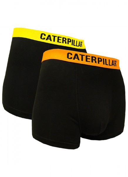 CAT Caterpillar 2Stk. Herren Boxershorts im Fluo-Look - in M/L/XL/XXL