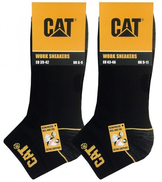 CAT Caterpillar 6|12|24 Paar Arbeitssneaker 39-42/43-46/47-50, Schwarz|Anthrazit|Blau, Arbeitssocken
