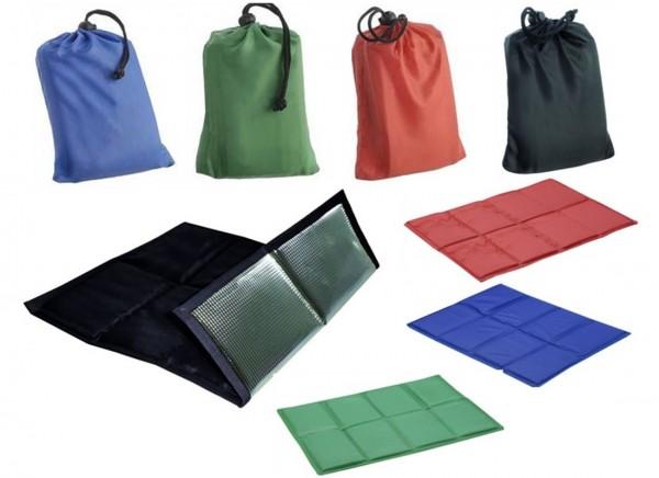 6|12 Comfort Sitzkissen, 4 Farben Auswahl - Stadionkissen incl. Zuzieh-Beutel, Groß, leicht