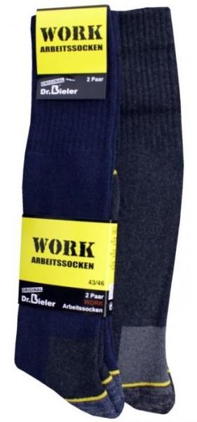 Dr. Bieler Kniestrumpf-Arbeitssocken Schwarz/Blau/Grau in 39-42/43-46