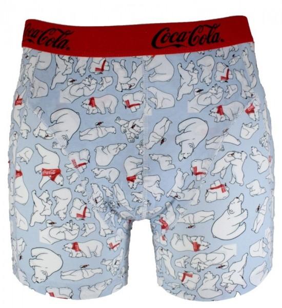 """Coca Cola Herren Boxershorts """"Eisbär-Family"""" Baumwolle in M L XL XXL"""