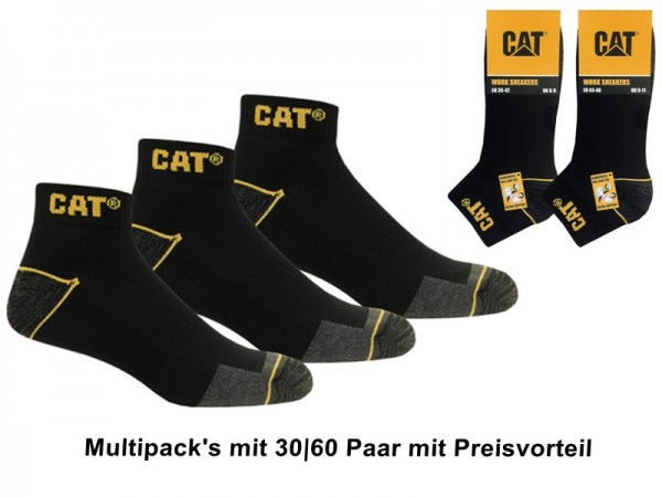 CAT Caterpillar Arbeitssneaker Multi-Pack 30 60 Paar kurze Arbeitssocken