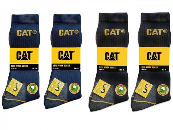 CAT Caterpillar 12 Paar Farbmix nach Wahl - lange Arbeitssocken in 41-45/46-50