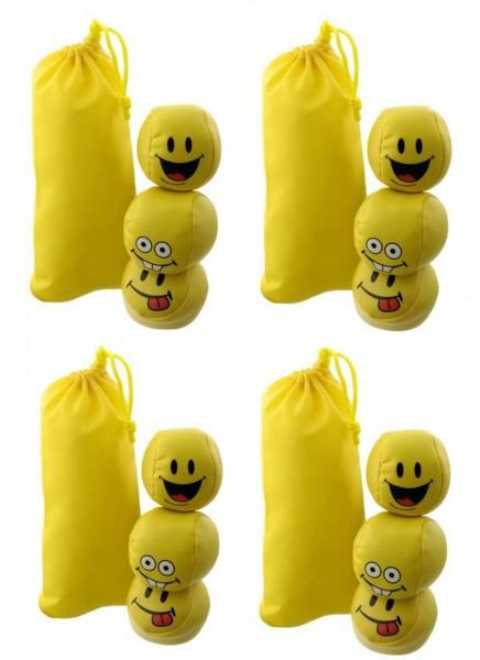 "Jonglierbälle / Stressbälle ""Happy"" 24/36|48|72 Stück, gelb mit Smiley-Gesichtern"