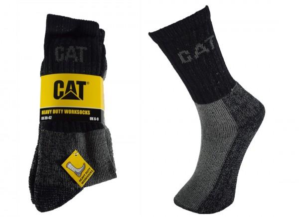CAT Caterpillar 6/9/12/24 Paar dicke Heavy Duty Arbeitssocken - schwere Qualtät