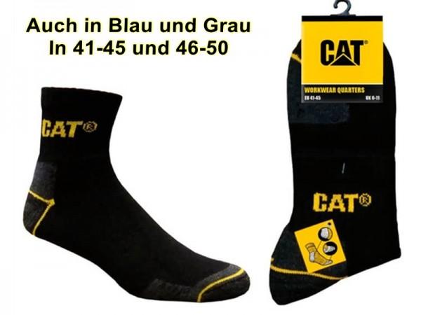 CAT kurze Caterpillar 4|6|12|24 Paar in 41-45/46-50 - Schwarz, Blau, Grau wahlweise