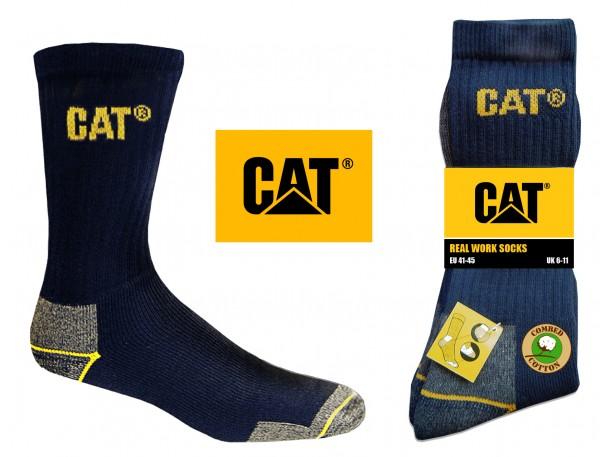 CAT Caterpillar 6/9/12/24 Paar blaue Arbeitssocken in allen Größen