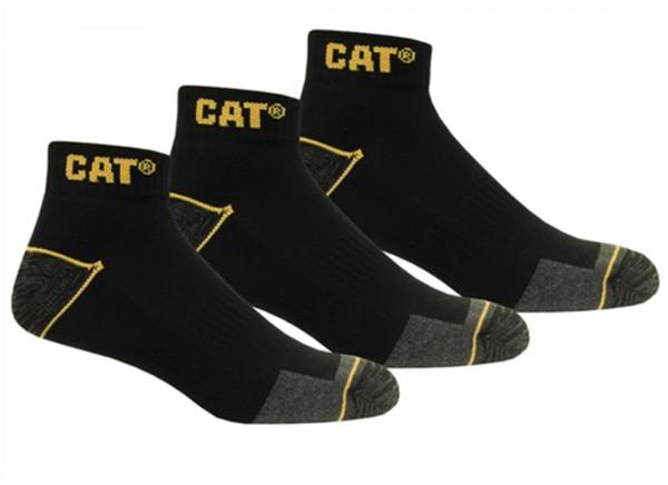 CAT Caterpillar 6|9|12 Paar Arbeitssneaker schwarz, Arbeitssocken - 39-42/43-46