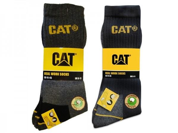 CAT Caterpillar 6 Paar Farbmix nach Wahl - lange Arbeitssocken in 41-45/46-50