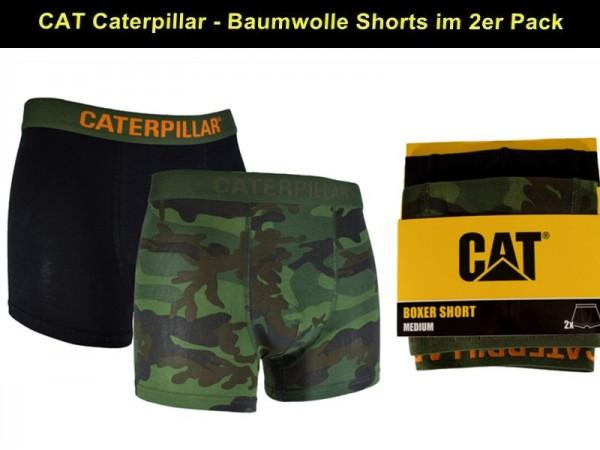 CAT Caterpillar 2Stk. Herren Boxershorts im Camouflage-Look - in M/L/XL/XXL